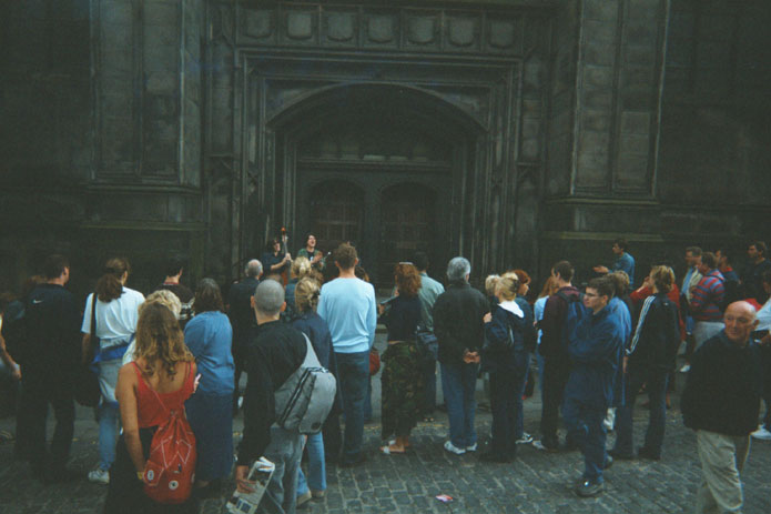 Busking the Royal Mile